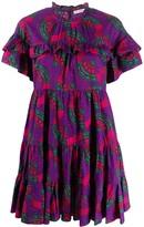 Ulla Johnson Tiered Abstract Print Dress