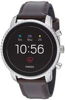 Fossil Men's Gen 4 Explorist HR Heart Rate Stainless Steel and Leather Touchscreen Smartwatch Color: Silver Brown (Model: FTW4015)