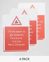 Brainbox Candy Warning Design Holidays Cards In 6 Pack