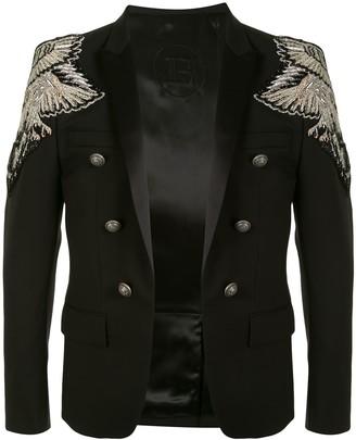 Balmain Embellished Shoulders Jacket