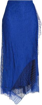 3.1 Phillip Lim Asymmetric Ruffled Corded Lace Midi Skirt