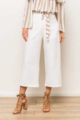 Hem & Thread Side Zip Culotte Pants