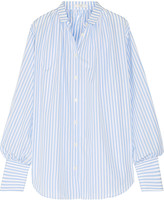 Tome Oversized striped cotton-poplin shirt