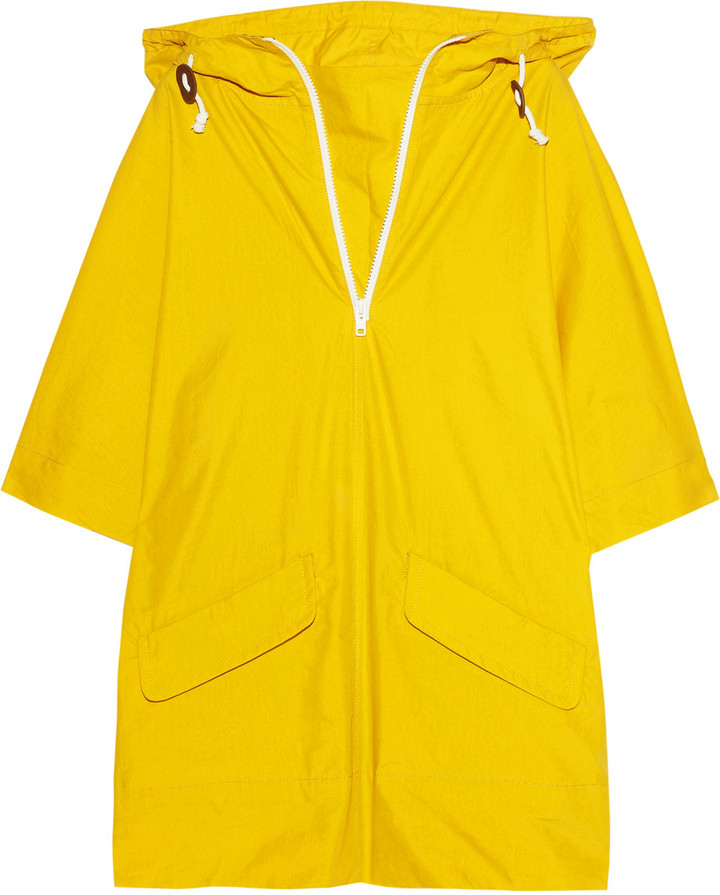 Aubin and Wills Emley hooded coated cotton-blend poncho