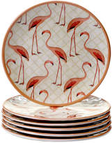 Certified International Set Of 6 9In Flamingo Salad Plates