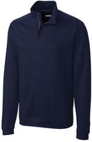 Cutter & Buck Navy Dactur Half-Zip Pima-Blend Pullover - Big & Tall