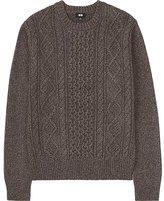 Uniqlo Men Middle Gauge Cable Crewneck Sweater