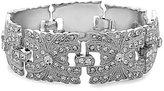 Nina Crystal Filigree Line Bracelet