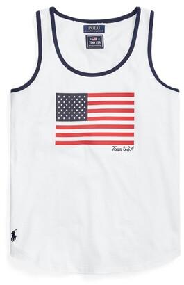 Ralph Lauren Team USA Flag Jersey Tank Top