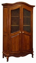 The Well Appointed House Grand Armoire with Wire Mesh Doors in Chateau