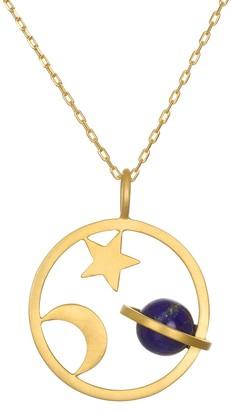 Satya Lapis Saturn, Moon, and Star Pendant w/ Chain
