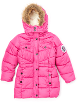 U.S. Polo Assn. Rose Violet Snap Puffer Coat - Toddler & Girls