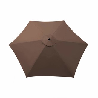 Benefit Usa Umbrella Cover Canopy 8.2ft 6 Rib Patio Replacement Top Outdoor-brown