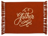 Threshold Gather Placemat Orange