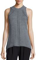 Ramy Brook Reya Sleeveless Studded Sweater