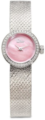 Christian Dior La D de Diamond, Pink Mother-Of-Pearl & Stainless Steel Bracelet Watch