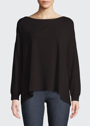 Alice + Olivia Oliva Drop-Shoulder Tie-Back Sweater