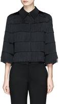 Stella McCartney 'Tatiana' tiered fringe cropped silk shirt