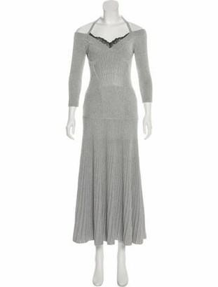 Alexander McQueen 2017 Metallic Dress Grey