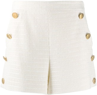 Boutique Moschino Button-Detail Tailored Shorts
