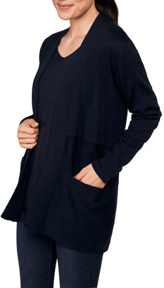 Blue Illusion Basic Longline Cardigan