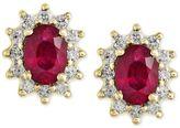 Effy EFFYandreg; Ruby (2 ct. t.w.) and Diamond (1/2 ct. t.w.) Stud Earrings in 14k Gold