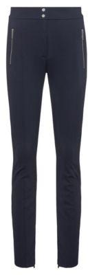 HUGO BOSS - Slim Fit Pants With Metal Zip Pockets - Dark Blue