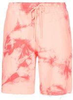 Topman Pink Tie Dye Raw Edge Jersey Shorts