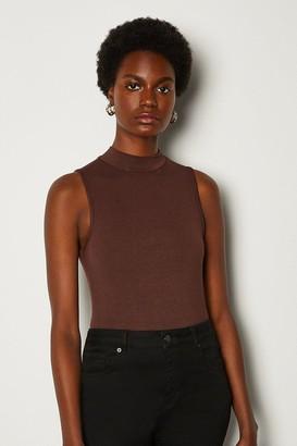 Karen Millen High Neck Sleeveless Jersey Top