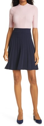 Ted Baker Jaelinn Colorblock Fit & Flare Sweater Dress
