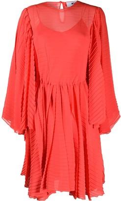 MSGM Flounce-Sleeve Knee-Length Dress