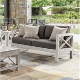 Pool' Parkdale Patio Loveseat with Sunbrella Cushions Greyleigh Cushion Color: Sparkle Pool