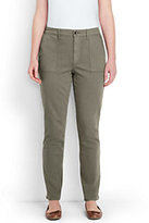 Lands' End Women's Plus Size Mid Rise Slim Jeans-Soft Olive