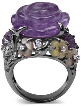 Bellus Domina Sterling Silver Amethyst Cocktail Ring