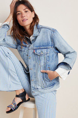 Levi's Ex-Boyfriend Denim Trucker Jacket By in Blue Size XS