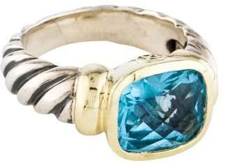 David Yurman Blue Topaz Noblesse Ring