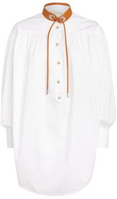 Sportmax Garbo Contrast-Collar Shirt