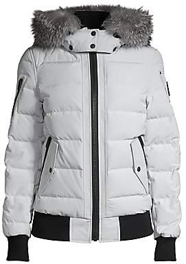 Moose Knuckles Women's LaDriere Fox Fur-Trim Quilted Bomber