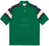 Gucci Tennis oversized polo shirt