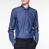 Paul Smith Men's Tailored-Fit Indigo Chambray Shirt