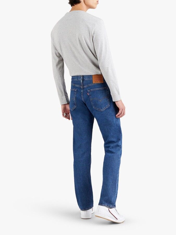 Thumbnail for your product : Levi's 501 Original Straight Jeans, Light Blue