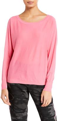 Velvet Loren Boat-Neck Cotton Sweatshirt