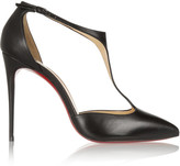 Christian Louboutin J String 100 Leather T-bar Pumps - Black