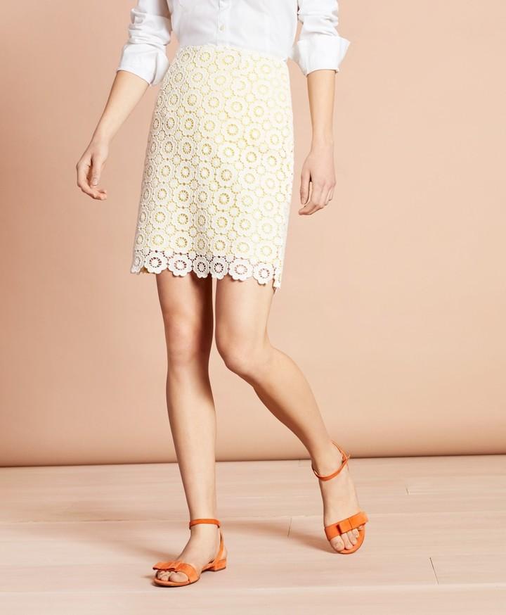 927b76d011 Ivory Lace Skirt - ShopStyle
