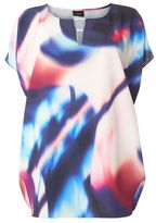 Evans Live Unlimited Multi Coloured Fiesta Cocoon Top