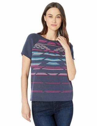 Pendleton Women's Short Sleeve Hero-Glyphic Summer Sweater