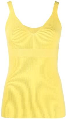 Ami Amalia Sleeveless Knit V-Neck Top