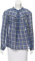 Rebecca Taylor Plaid Long Sleeve Top w/ Tags