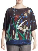 Marina Rinaldi, Plus Size Berenice Dolman Print Top