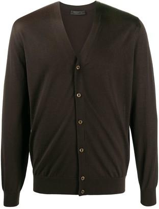 Prada long-sleeve V-neck cardigan